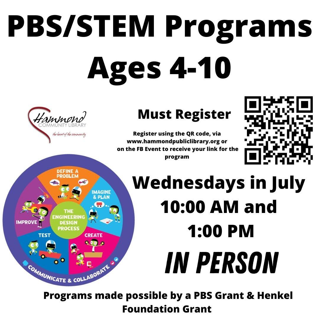 STEM Program Wednesdays in July