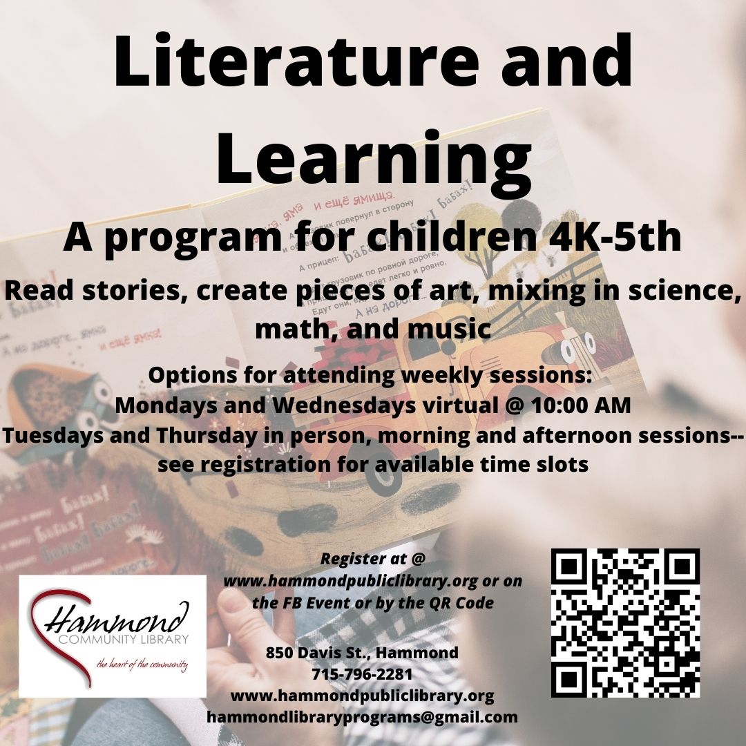 Literature and Learning for children grades 4K-5th. An all new way to enjoy story-time with your children.